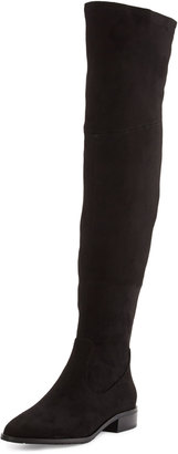 Ivanka Trump Livi Suede Knee Boot, Black $139 thestylecure.com