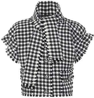 Dolce & Gabbana Houndstooth cropped jacket