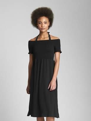 Gap Softspun Smocked Off-Shoulder Dress