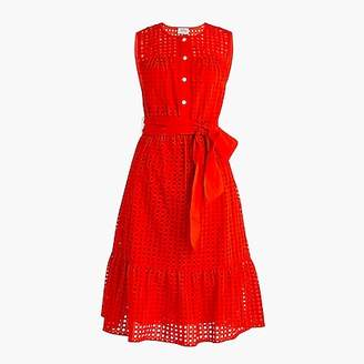 J.Crew Tall all-over eyelet dress