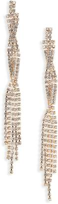 Jules Smith Designs Crystal Twist Drop Earrings