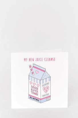 Nasty Gal Ready Set Juice Anti-Valentines Card