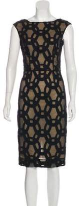 L.A.M.B. Embroidered Knee-Length Dress