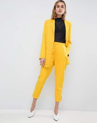 Asos Design Highwaist Yellow Trouser