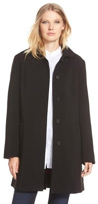 Women's Gallery Hooded Nepage Raincoat $300 thestylecure.com