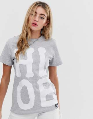 House of Holland X Lee T Shirt with Oversized Logo Detail