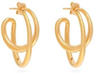Charlotte Chesnais Initial Gold Vermeil Hoop Earrings - Womens - Gold