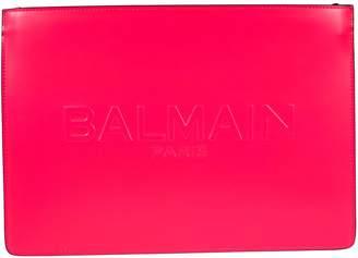 Balmain Embossed Logo Clutch