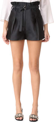 3.1 Phillip Lim Satin Origami Shorts $375 thestylecure.com