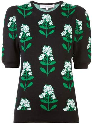 Carolina Herrera knitted floral top