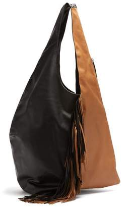 Isabel Marant Eenda Fringed Leather Tote - Womens - Brown
