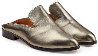 Robert Clergerie Metallic Leather Slip-On Loafers