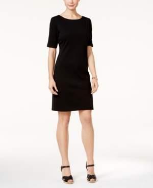 Karen Scott Cotton Boat-Neck Dress, Created for Macy's