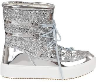 Chiara Ferragni Glittered Coating Snow Boots