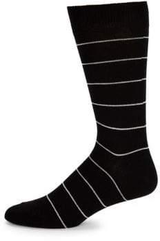 Saks Fifth Avenue Wire Stripe Dress Socks