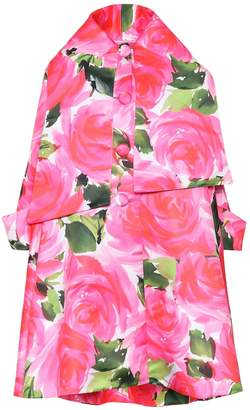 Richard Quinn Floral satin coat
