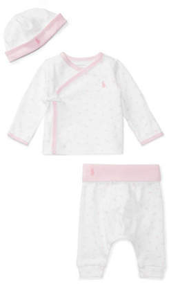Ralph Lauren Four-Piece Cotton Striped and Letters Gift Set
