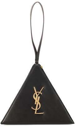 Saint Laurent Pyramid leather clutch