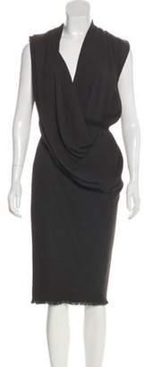 Lanvin Sleeveless Midi Dress Olive Sleeveless Midi Dress
