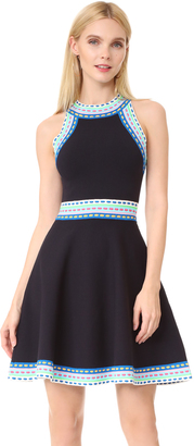 Milly Woven Trim Flare Dress $450 thestylecure.com