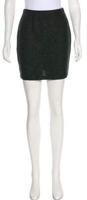 St. John Metallic Knit Mini Skirt