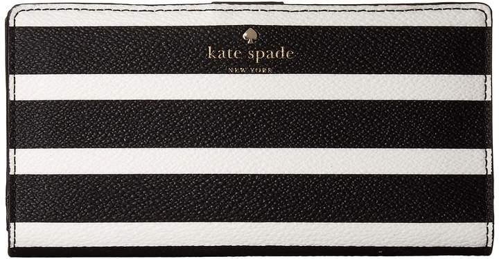 Kate Spade New York - Hyde Lane Stripe Stacy Wallet