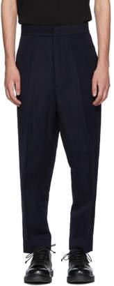 Jil Sander Navy Roman Gabardine Trousers