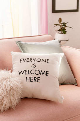 Urban Outfitters Housing Works Community Cares + Housing Works Everyone Is Welcome Pillow
