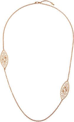 Roberto Coin Bollicine 18k Rose Gold Long 2-Station Necklace w/ Diamonds