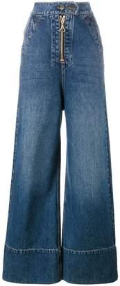 Ellery wide leg denim jeans