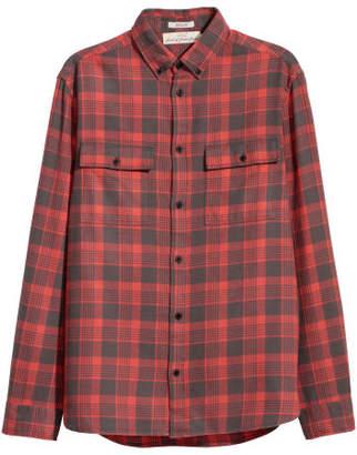 H&M Flannel Shirt Regular fit - Red