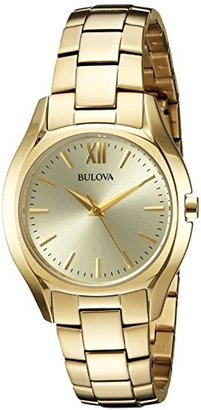 Bulova Women's Quartz and Stainless-Steel Casual Watch, Color:Gold-Toned (Model: 97L150) $79.95 thestylecure.com