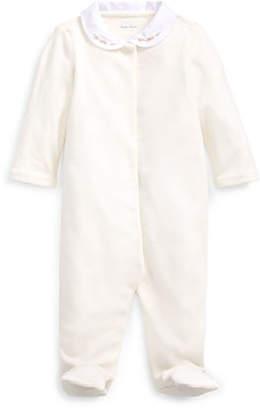 Ralph Lauren Childrenswear Solid Velour Footie Pajamas, Size 3-9 Months
