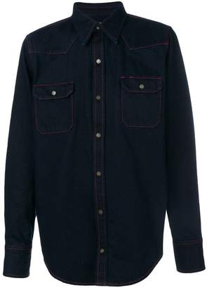 Calvin Klein contrast-stitch denim shirt