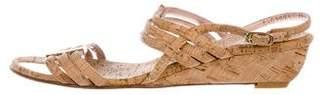 Stuart Weitzman Cork Low-Heel Sandals