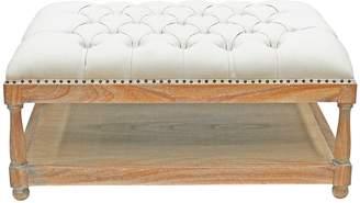 Hudson Furniture Ottomans Horton Ottoman, Distressed White