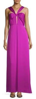 Jill Stuart Halter Cut-Out Floor-Length Gown