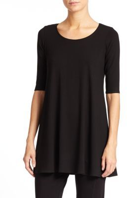 Eileen Fisher Jersey Scoopneck Tunic $138 thestylecure.com
