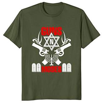 N. Guns Moses T-Shirt - Funny Jewish Israeli Army Rock Tee