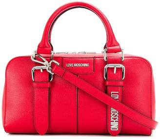 Love Moschino belt-detail tote bag