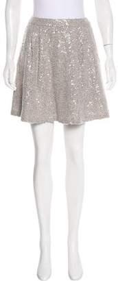 Alice + Olivia Embellished Knit Skirt