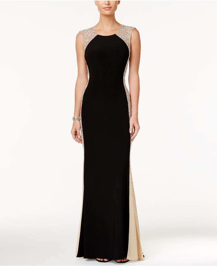 Xscape Evenings Rhinestone Illusion Gown - ShopStyle