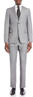 Tommy Hilfiger Two-Piece Light Tan Vassar Plaid Wool Suit