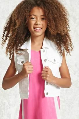 Forever 21 Girls Denim Vest (Kids)