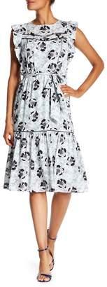 Vertigo Flutter Sleeve Floral Dress