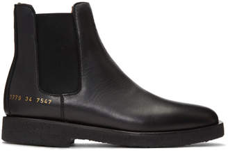 Common Projects Woman by SSENSE Exclusive Black Leather Chelsea Boots