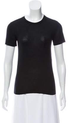 Chanel Silk-Cashmere Short Sleeve Sweater