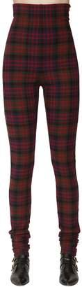 Philosophy di Lorenzo Serafini High Waist Check Stretch Flannel Pants