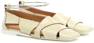 Jil Sander Patent leather ballet flats