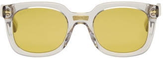 Gucci Grey Opulent Luxury Square Sunglasses
